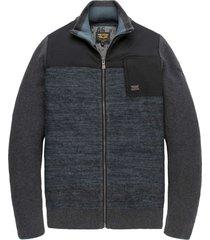 zip jacket wool cotton mix anthracite