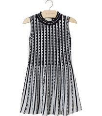 vestido le lis petit tereza xadrez feminino (xadrez off white e preto, 9)