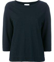 zanone boat neck sweater - blue