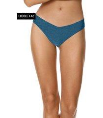 traje de baño pantie azul-coral maaji swimwear prussian sublimity classic