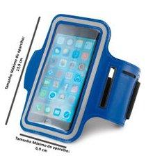 braçadeira esportiva para smartphone 5  azul ,