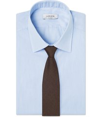 cravatta su misura, reda, pura lana marrone, quattro stagioni | lanieri