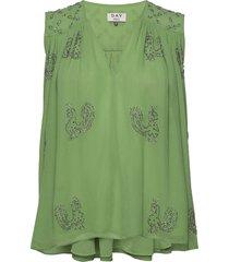 day regina blouse mouwloos groen day birger et mikkelsen