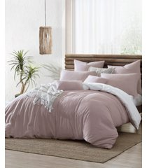 ultra soft valatie cotton garment washed dyed reversible 3 piece duvet cover set, full/queen bedding