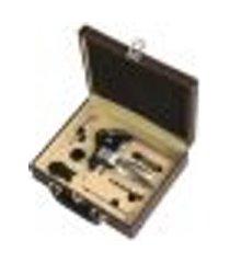 saca-rolhas zamac com maleta couro 9 acessorios