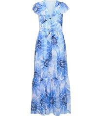 abo giant daisy long dress maxiklänning festklänning blå tommy hilfiger