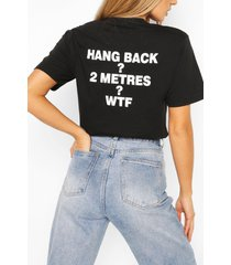 """hang back"" printed t-shirt, black"