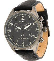 timex waterbury traditional chronograph 42mm watch - black
