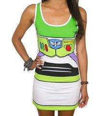 toy story i am buzz lightyear juniors costume tank tunic dress shirt s-xxxl