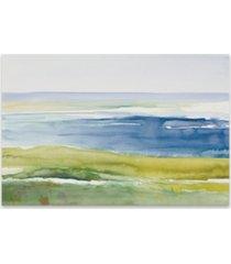 "cape cod beach hand embellished canvas art - 36"" w x 24"" h x 1.5"" d"
