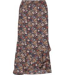 kaselly skirt knälång kjol multi/mönstrad kaffe