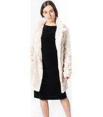 abrigo faux rabbit blanco calvin klein