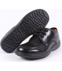 zapato colegial street line -negro suela negra