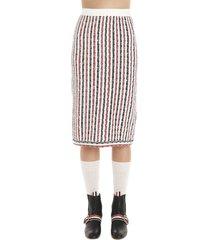 thom browne wide university skirt