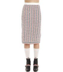 thom browne wide university skirt