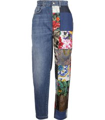 dolce & gabbana floral embroidered jeans