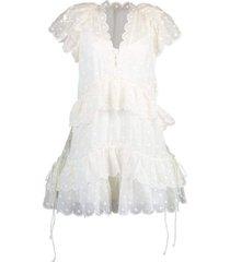 ivory mae dot mini dress