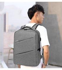 augur nueva oxford mochila para portátil mochilas multifuncionales-gris