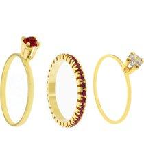 kit 3pçs anel horus import dourado/rosa
