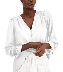 alfani v-neck poet blouse, created for macy's