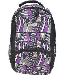 mochila violeta dattier estampada 18