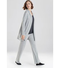 natori ulla ribbed cardigan coat, women's, grey, size m natori