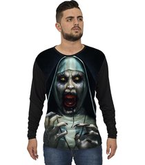 camiseta lucinoze camisetas manga longa the nun one preta
