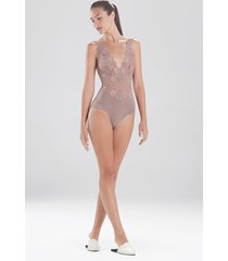 natori rose parfait essentials bodysuit, lingerie, women's, size m