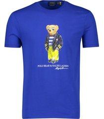 ralph lauren t-shirt polo bear kobalt blauw