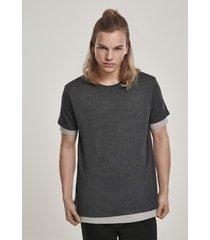 t-shirt korte mouw urban classics t-shirt urban classic full double layered