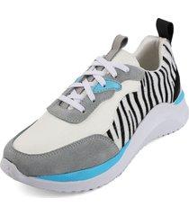 tenis blanco por gris blanco perla 1012