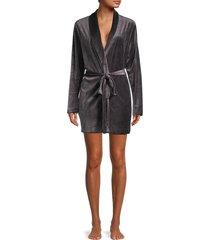 hanro women's favou tie-waist robe - dust - size l
