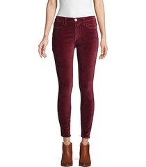 velveteen high-rise skinny jeans