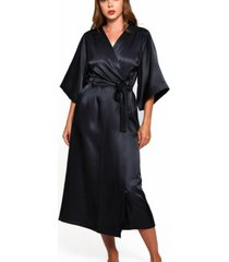 women's luxury long robe with kimono style sleeves