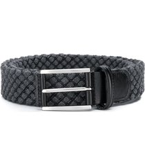 anderson's check stitch detail belt - grey