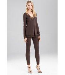 undercover pants pajamas, women's, grey, size m, josie natori