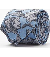 krawat kwiaty niebieski 106