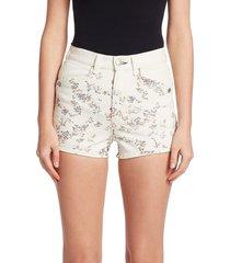 rag & bone women's ellie floral denim shorts - micro flower - size 28 (4-6)