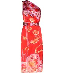 peter pilotto floral print midi dress - pink