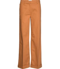 nomio mw trousers pantalon met rechte pijpen oranje second female