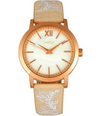 bertha quartz penelope collection cream and eggshell leather watch 36mm