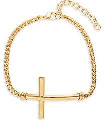 joshua titanium cross pendant bracelet