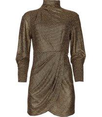 metallic jurk rasile  zwart