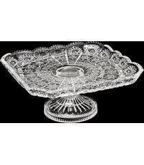 centro de mesa de cristal com pé glamis 27x12cm – linha starry