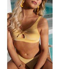 hunkemöller rio bikiniunderdel carmel gul