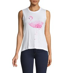 flamingo cotton tank top