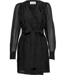 liva wrap dress kort klänning svart designers, remix