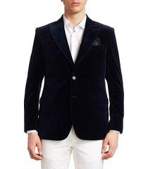 saks fifth avenue men's collection velvet dinner jacket - navy - size 44 l