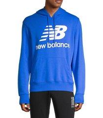 logo-print cotton-blend hoodie