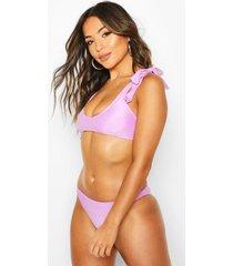 petite bow detail bikini, lilac
